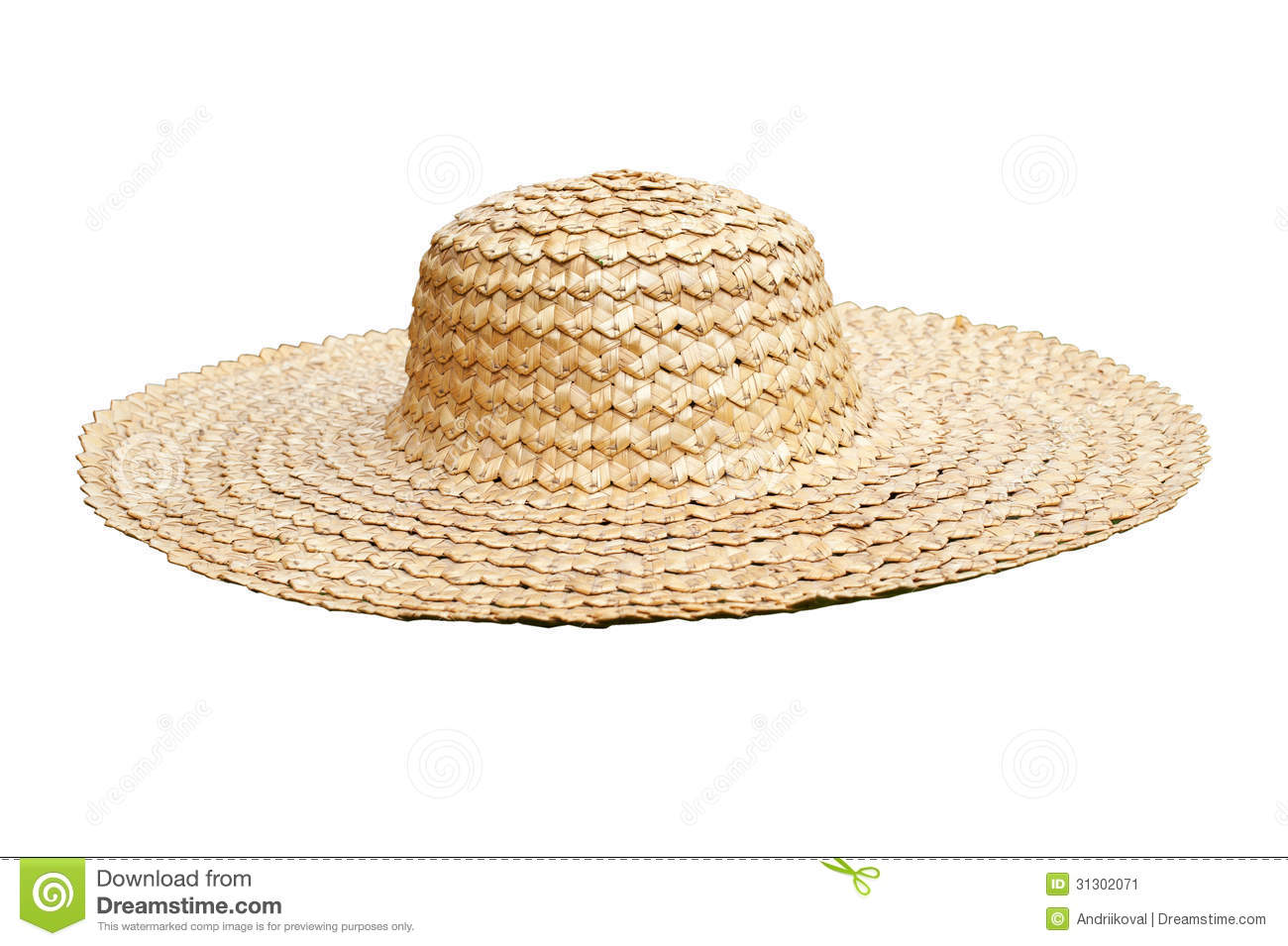Straw Hat Side View Isolated On White Stock Image - Image of garden ... 5305e54f3b20