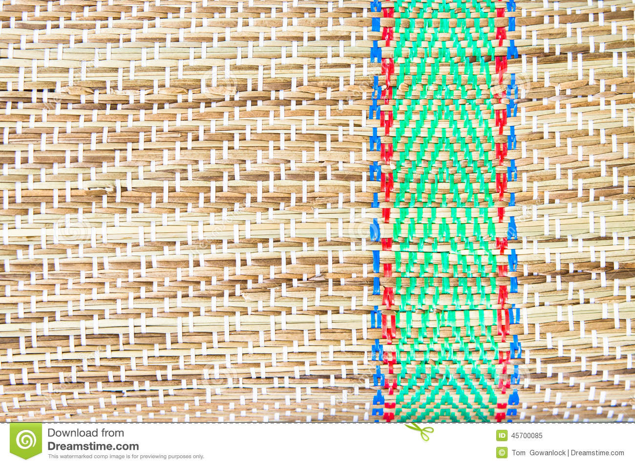 Straw Mat Stock Image Image Of Blue Woven Green Straw