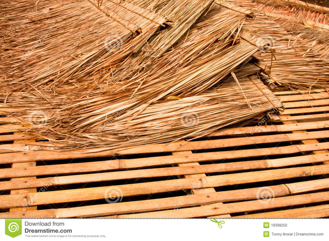 Straw material stock photo image 18398250 for Bamboo roofing materials