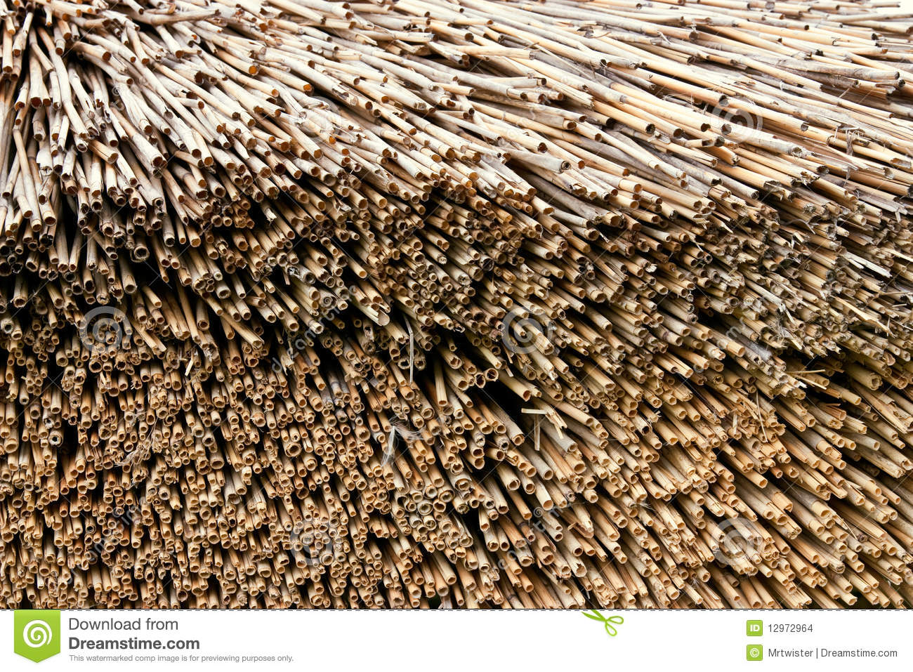 Straw Roof Stock Images Image 12972964