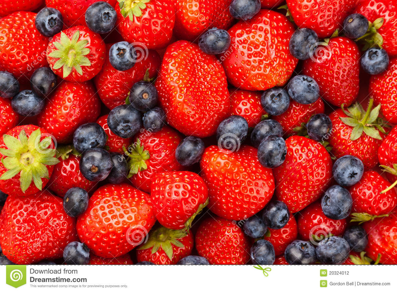 Strawberries And Blueberries Stock Photography Image