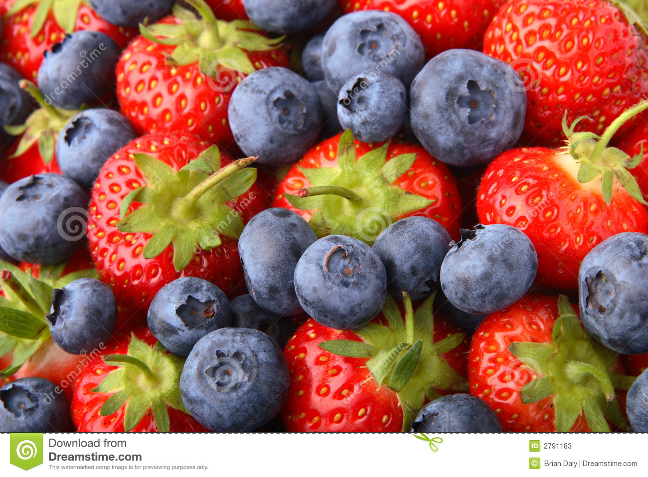 Strawberries And Blueberries Stock Photos Image 2791183