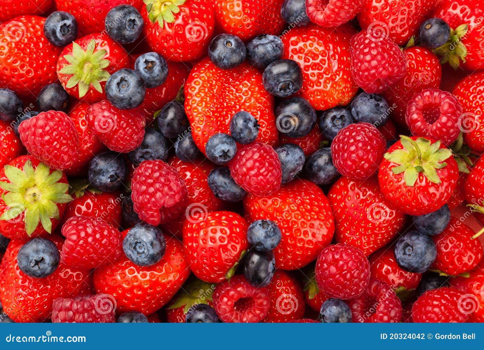 Strawberries Blueberries & Raspberries Stock Photography ...