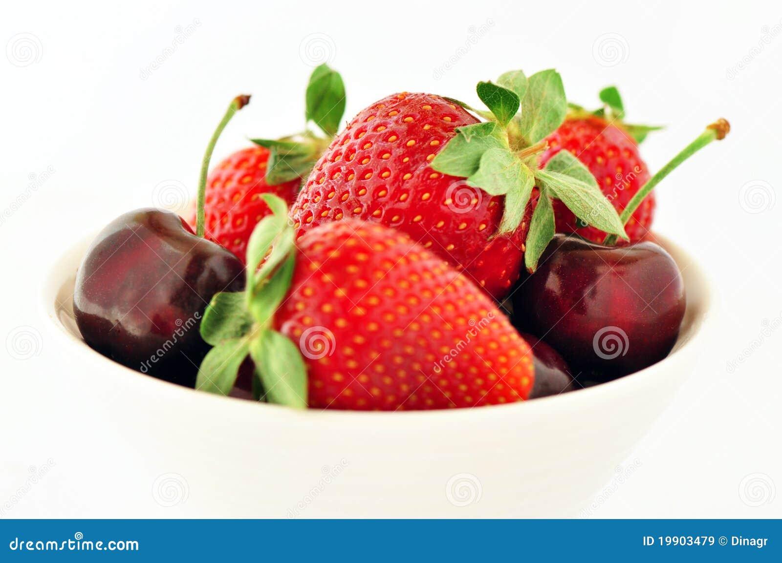 Strawberries and cherries