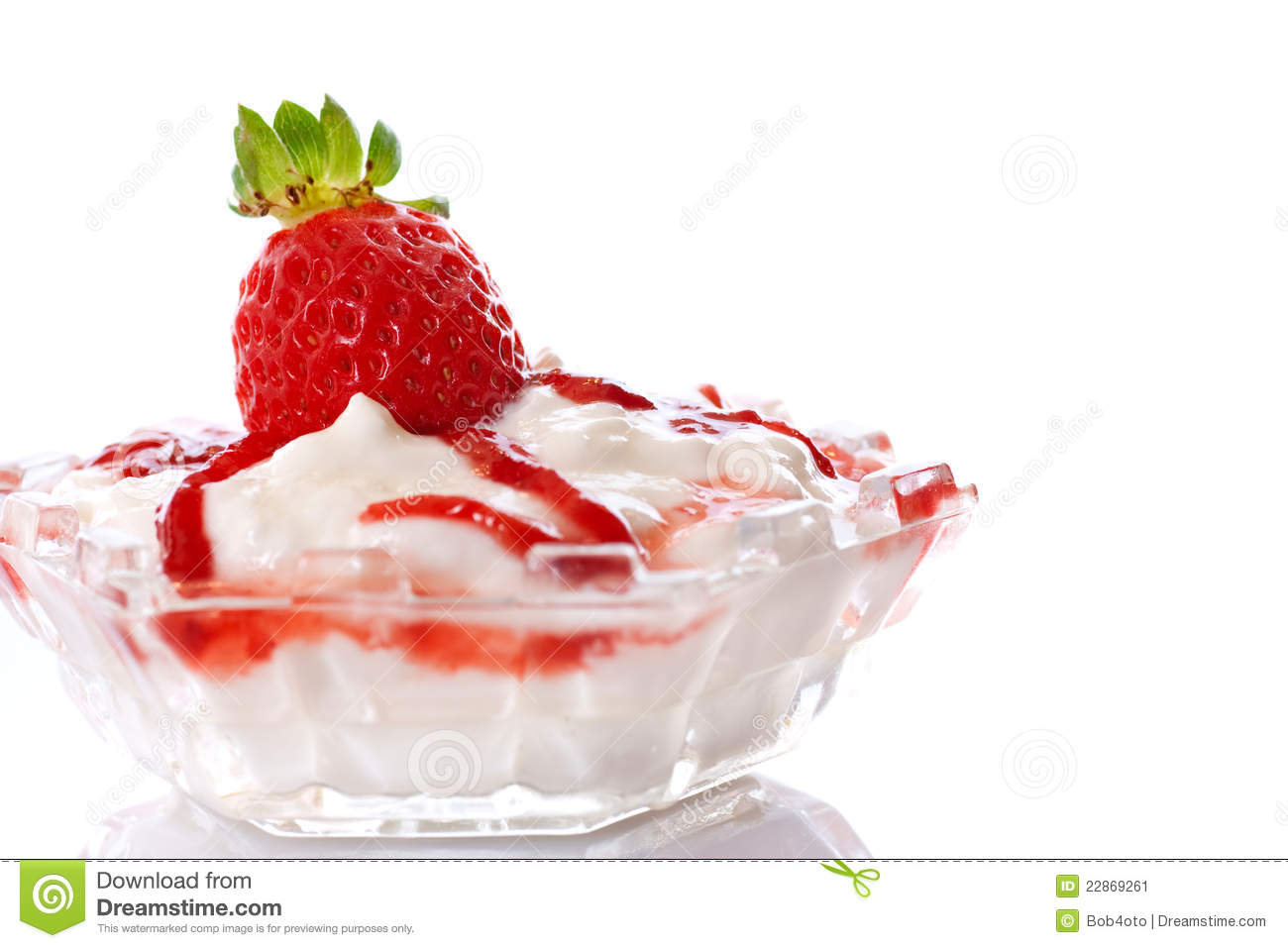 Strawberries And Cream Stock Image - Image: 22869261