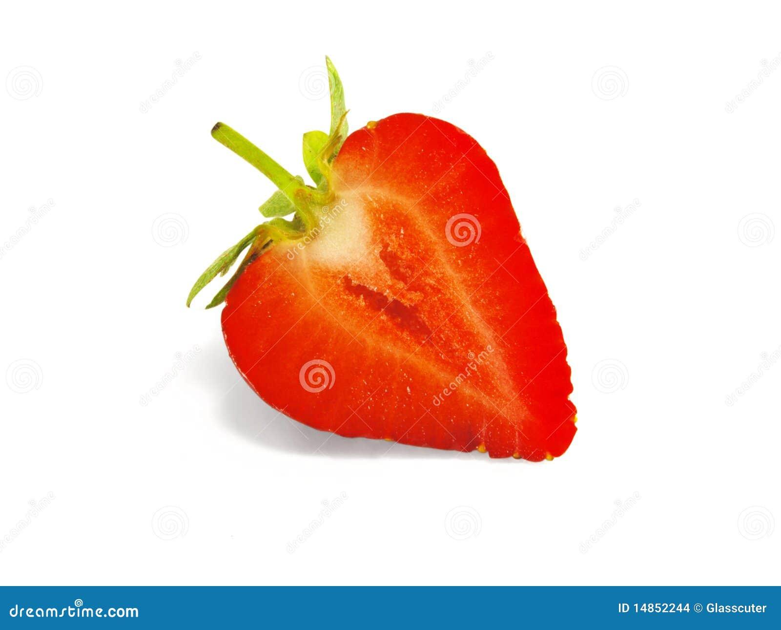 Strawberries cut