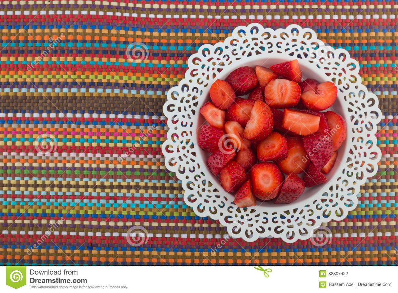 Strawberries on a white plate