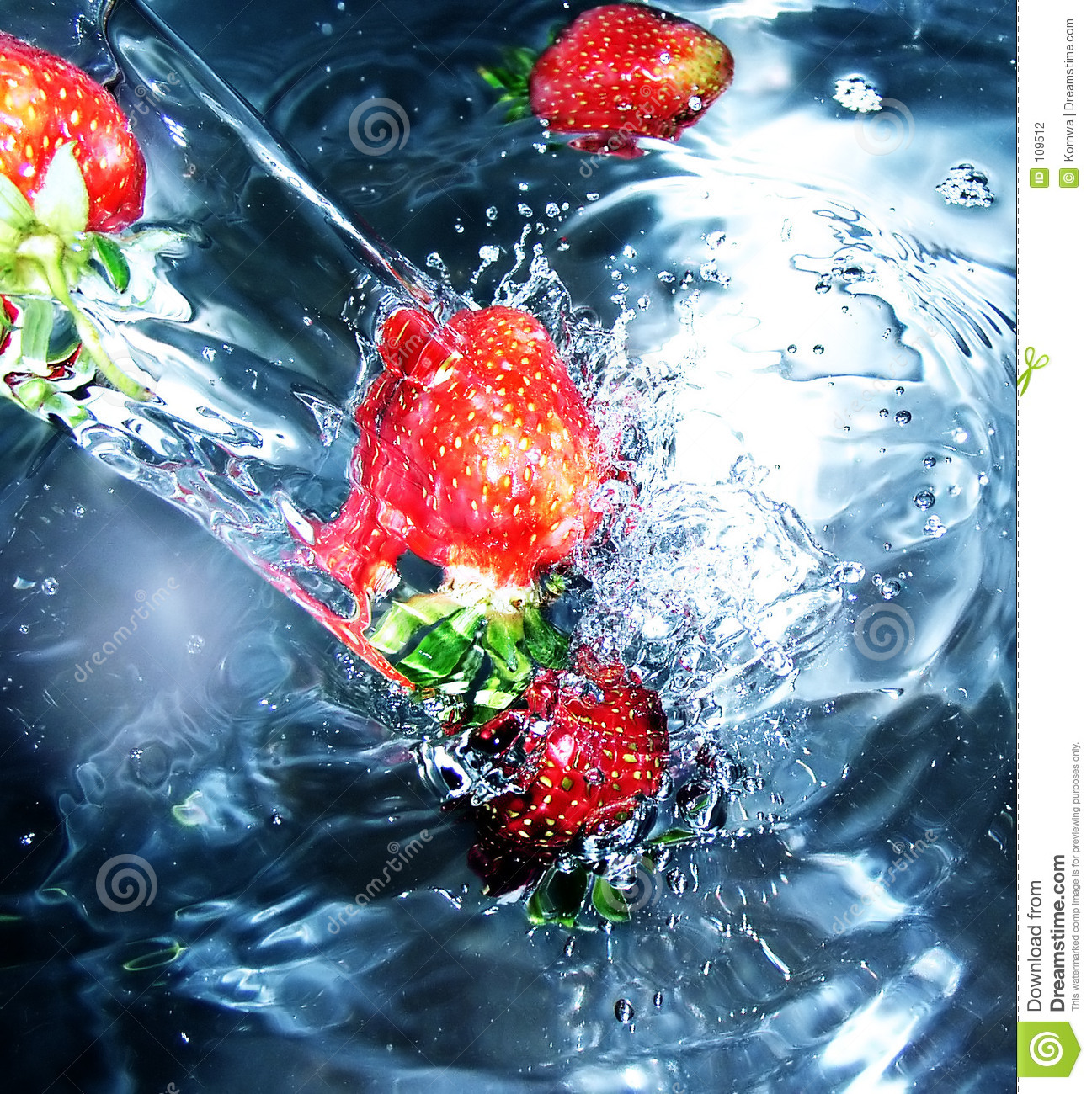 Download Strawberry stock photo. Image of submerged, splashes, liquids - 109512