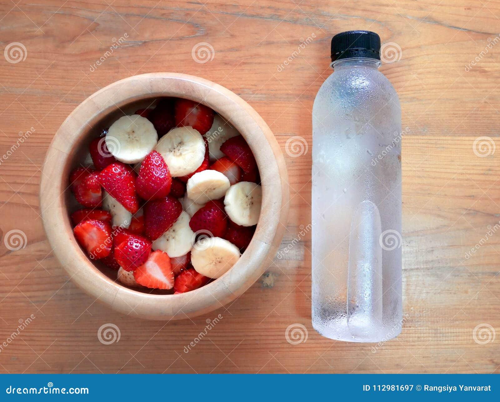 Strawberry and banana healthy eating.