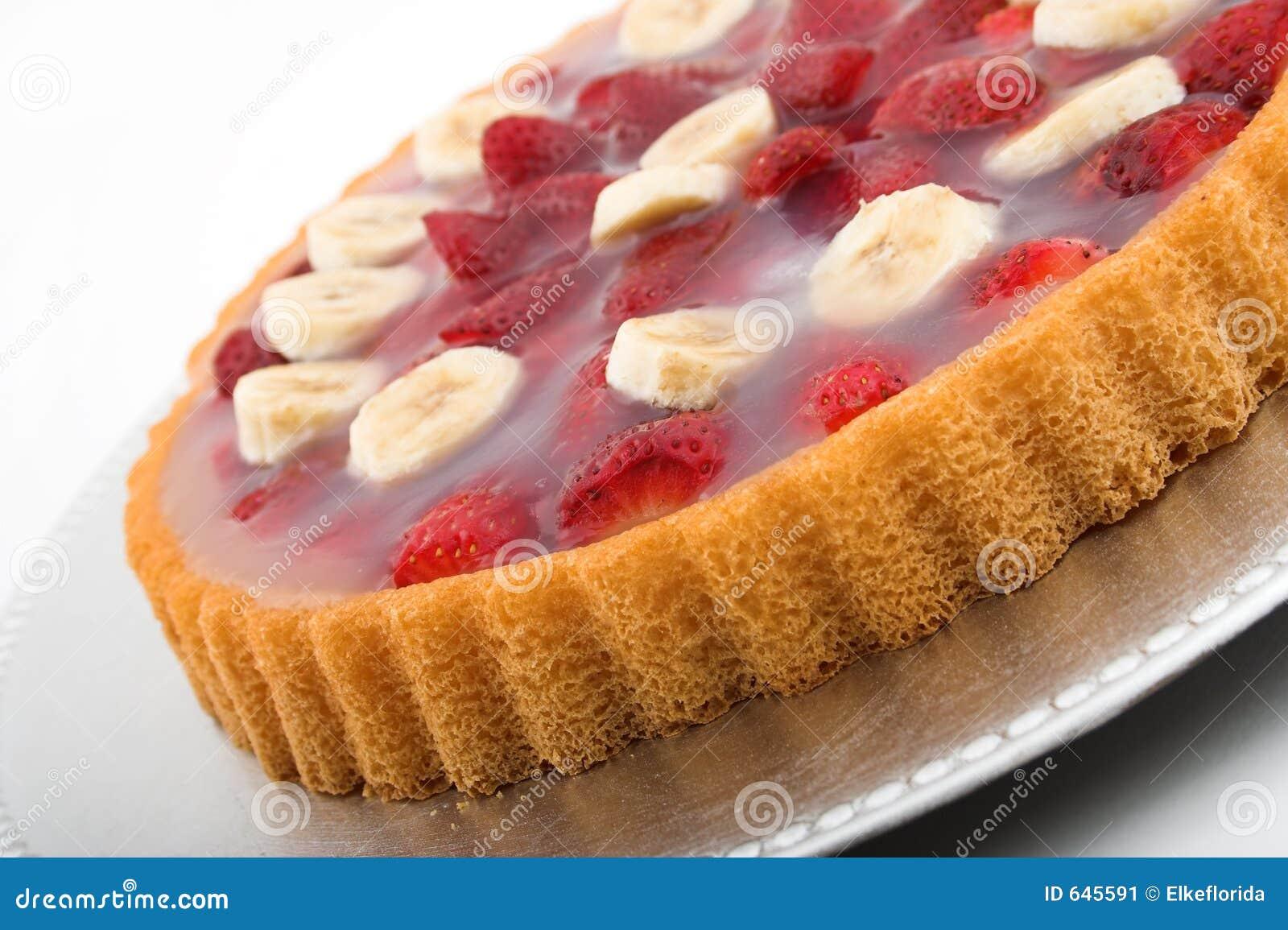 Strawberry Banana Torte Stock Image - Image: 645591