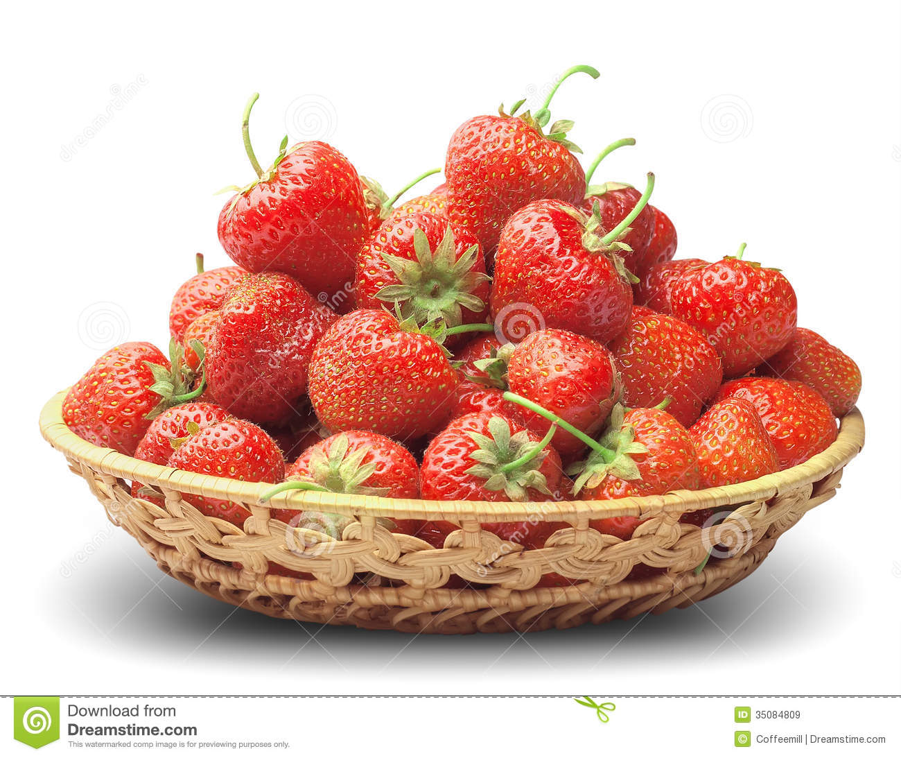 Strawberry In A Basket-dish Royalty Free Stock Images ...