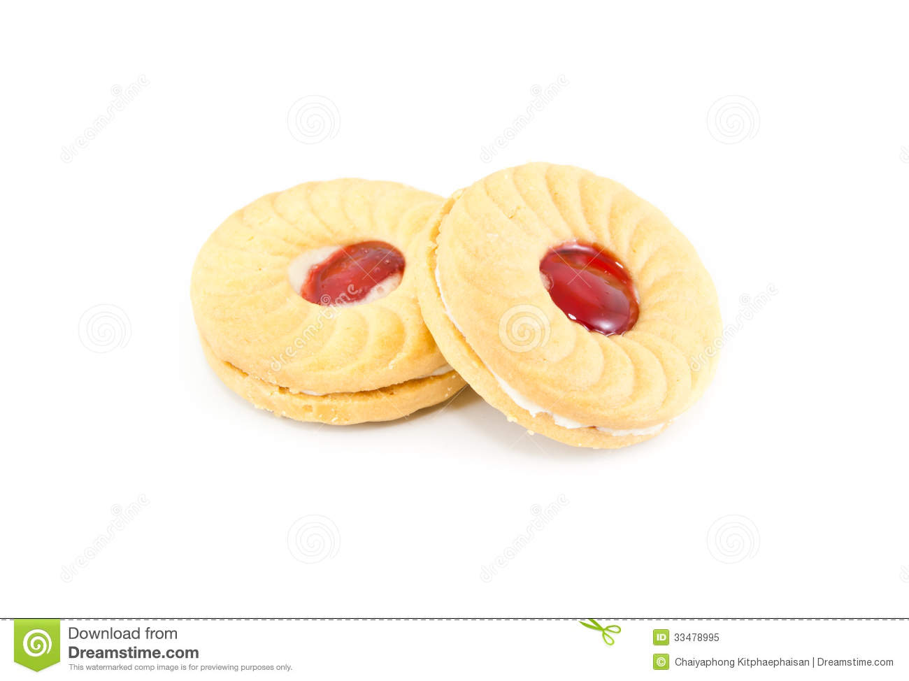 Strawberry Biscuits Royalty Free Stock Photo - Image: 33478995