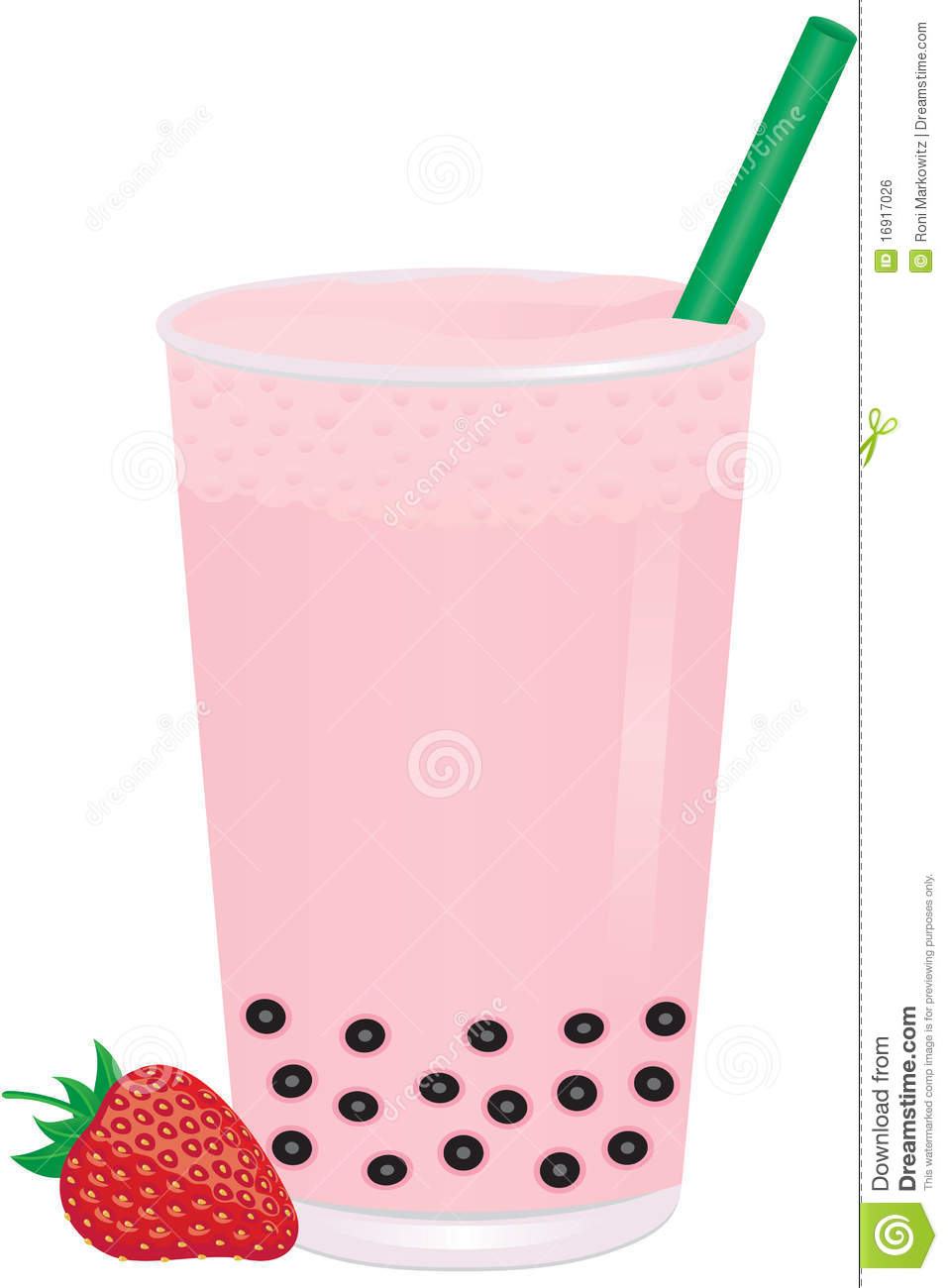 Bubble tea strawberry