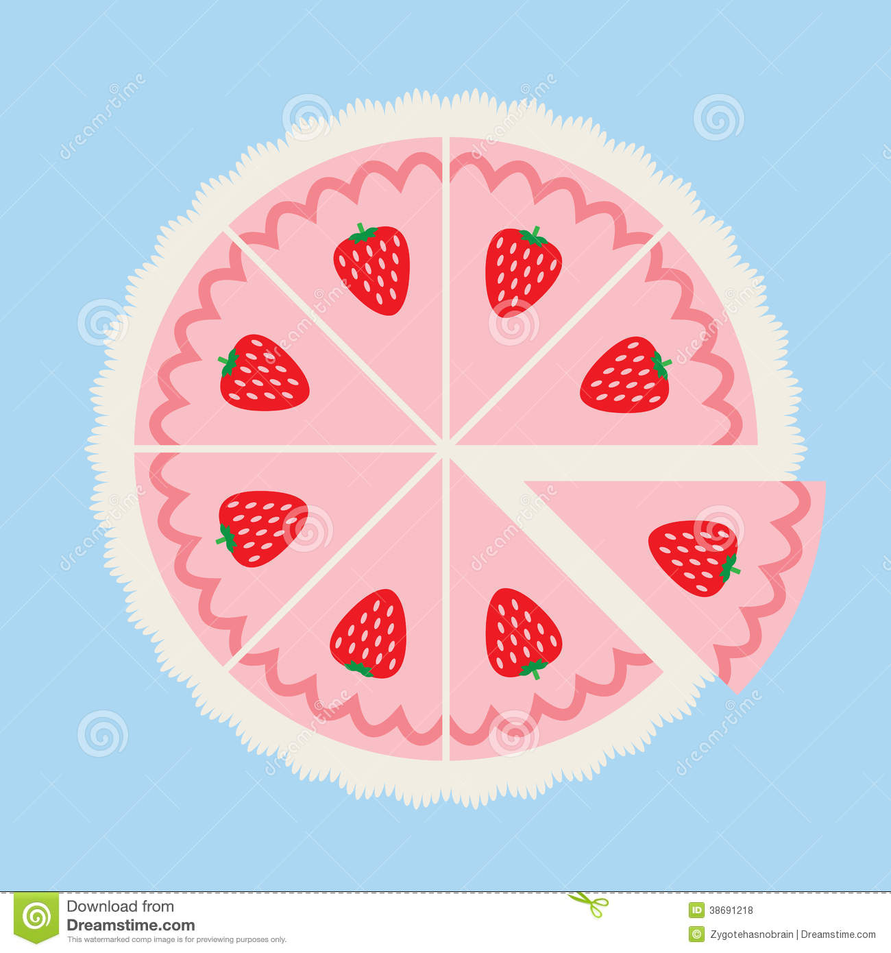 Cake Clipart Top View : Strawberry Cake Royalty Free Stock Photos - Image: 38691218