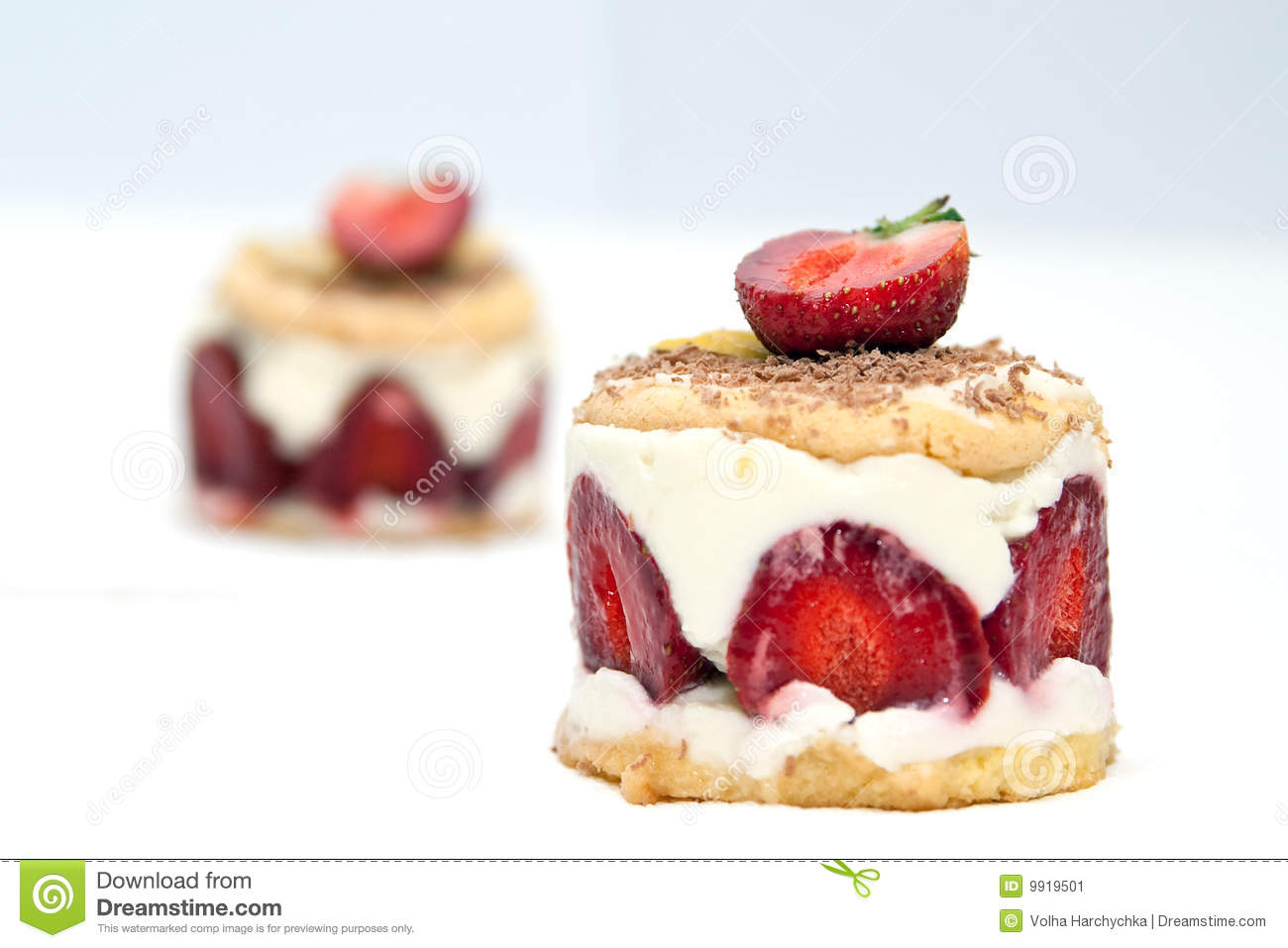 Strawberry Cheesecake With Mascarpone Cream Stock Image - Image ...