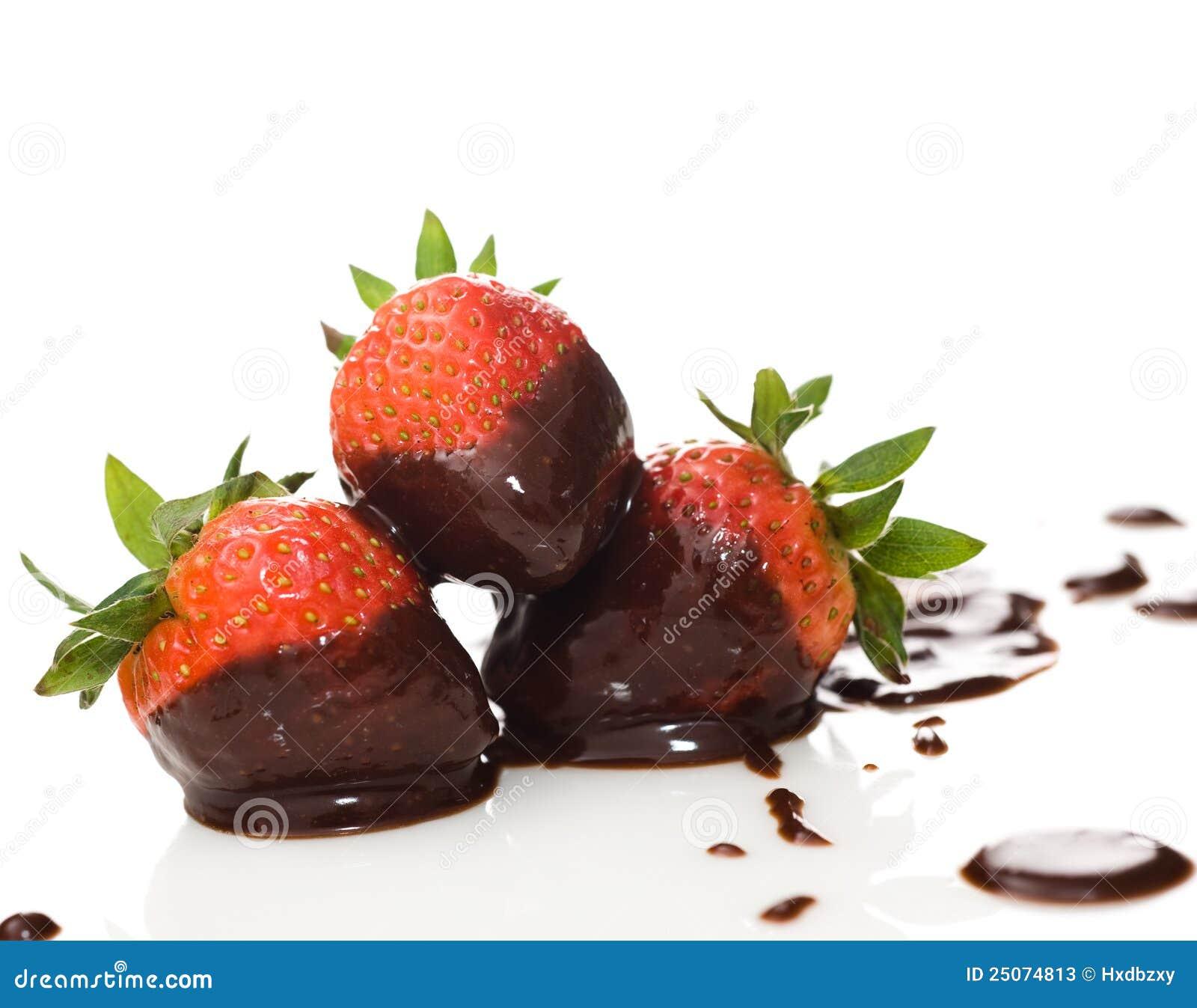 White And Dark Chocolate Strawberries Recipe — Dishmaps