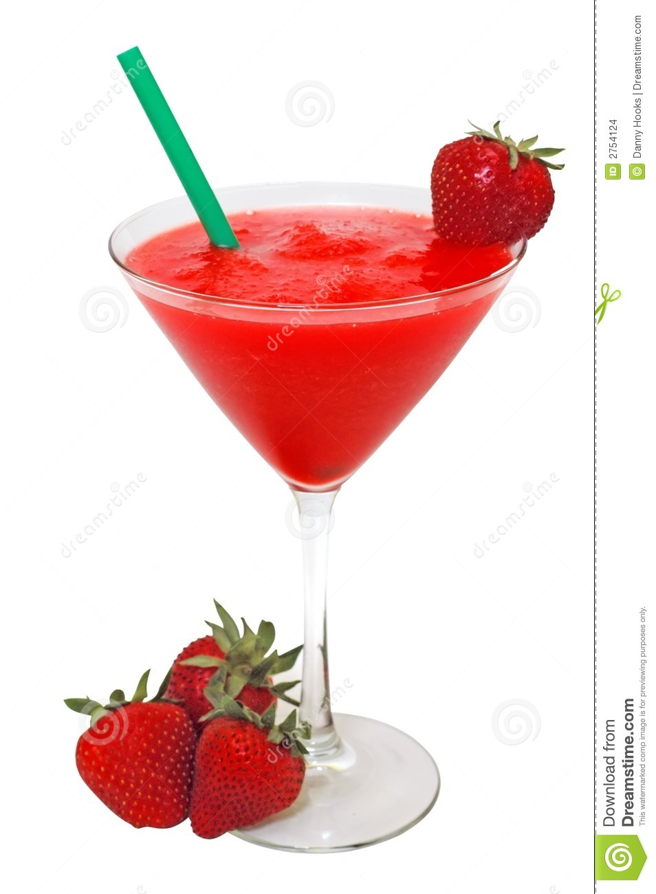 Strawberry Daiquiri And Strawberries Isolated Stock Images - Image ...