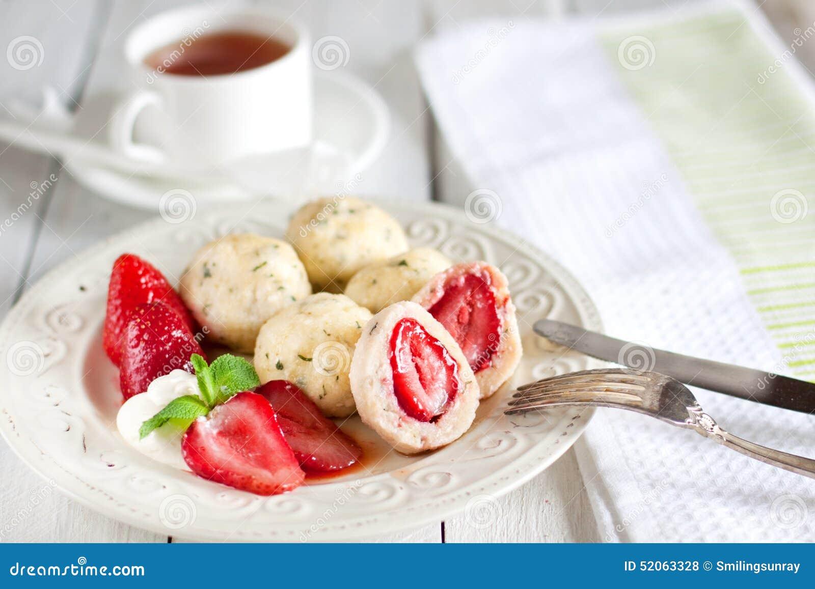 Strawberry Dumplings Stock Photo Image 52063328