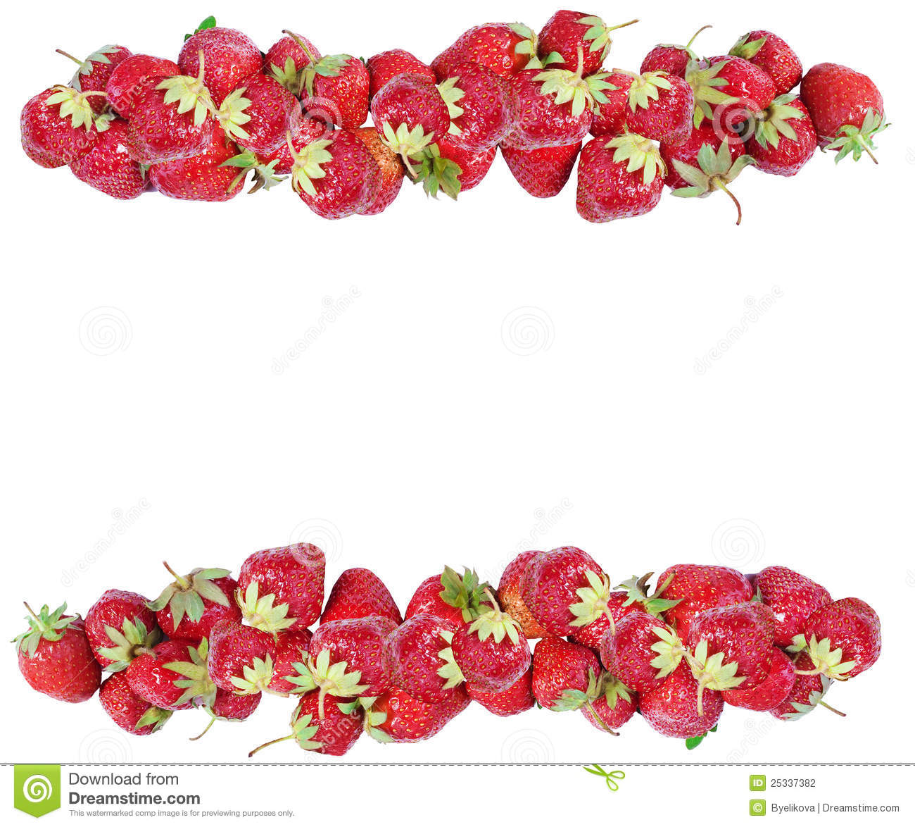 Strawberry Frame Stock Photography - Image: 25337382