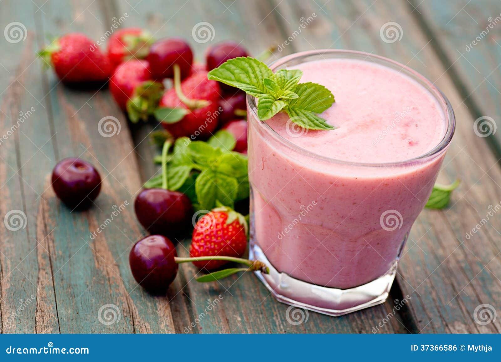 healthy yogurt fruit smoothie organic fruit