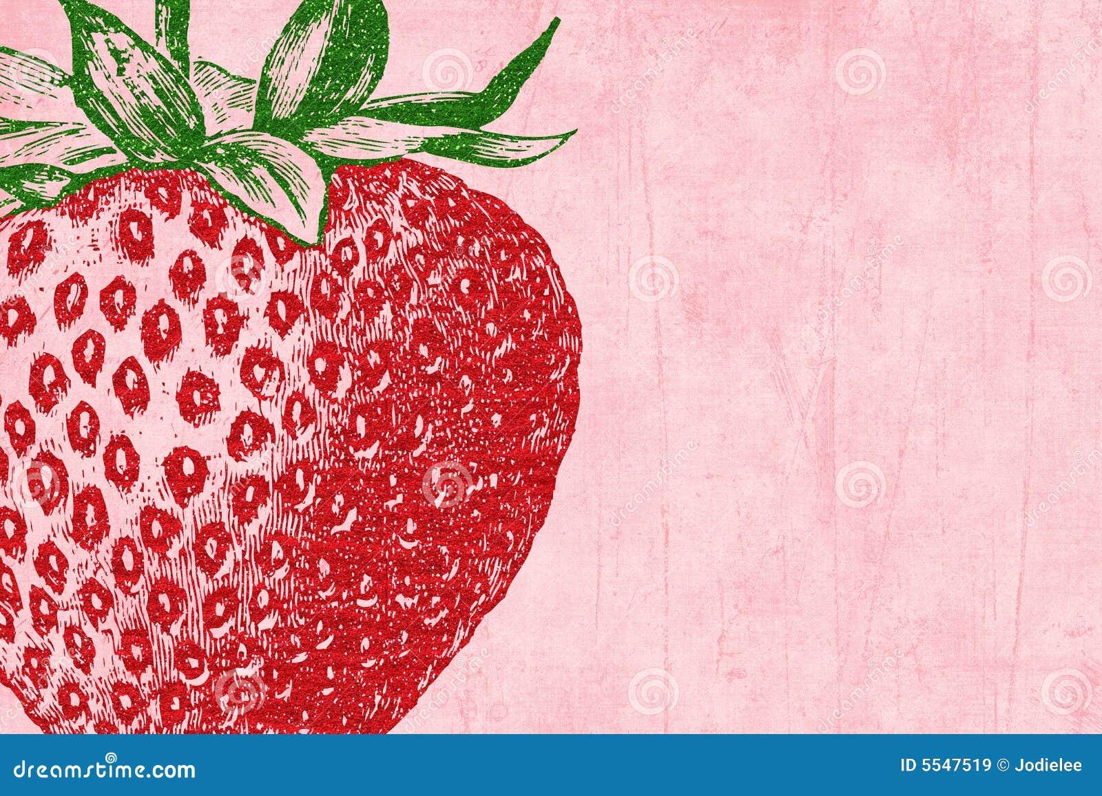 How to scrapbook with glitter - Strawberry Glitter Scrapbook Background