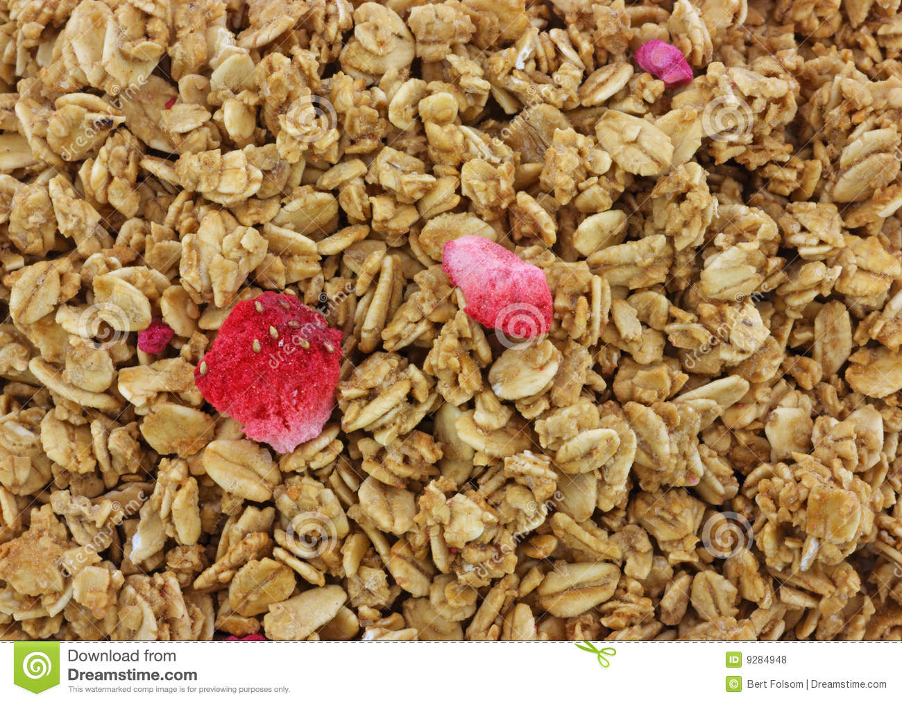 Strawberry Granola Cereal Royalty Free Stock Photos - Image: 9284948