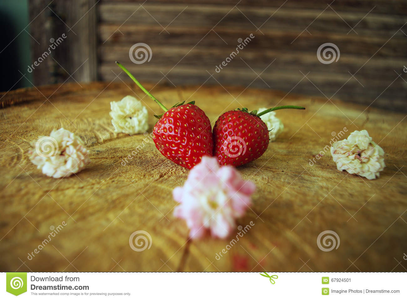 Strawberry Heart of Mary love to eat on the table.