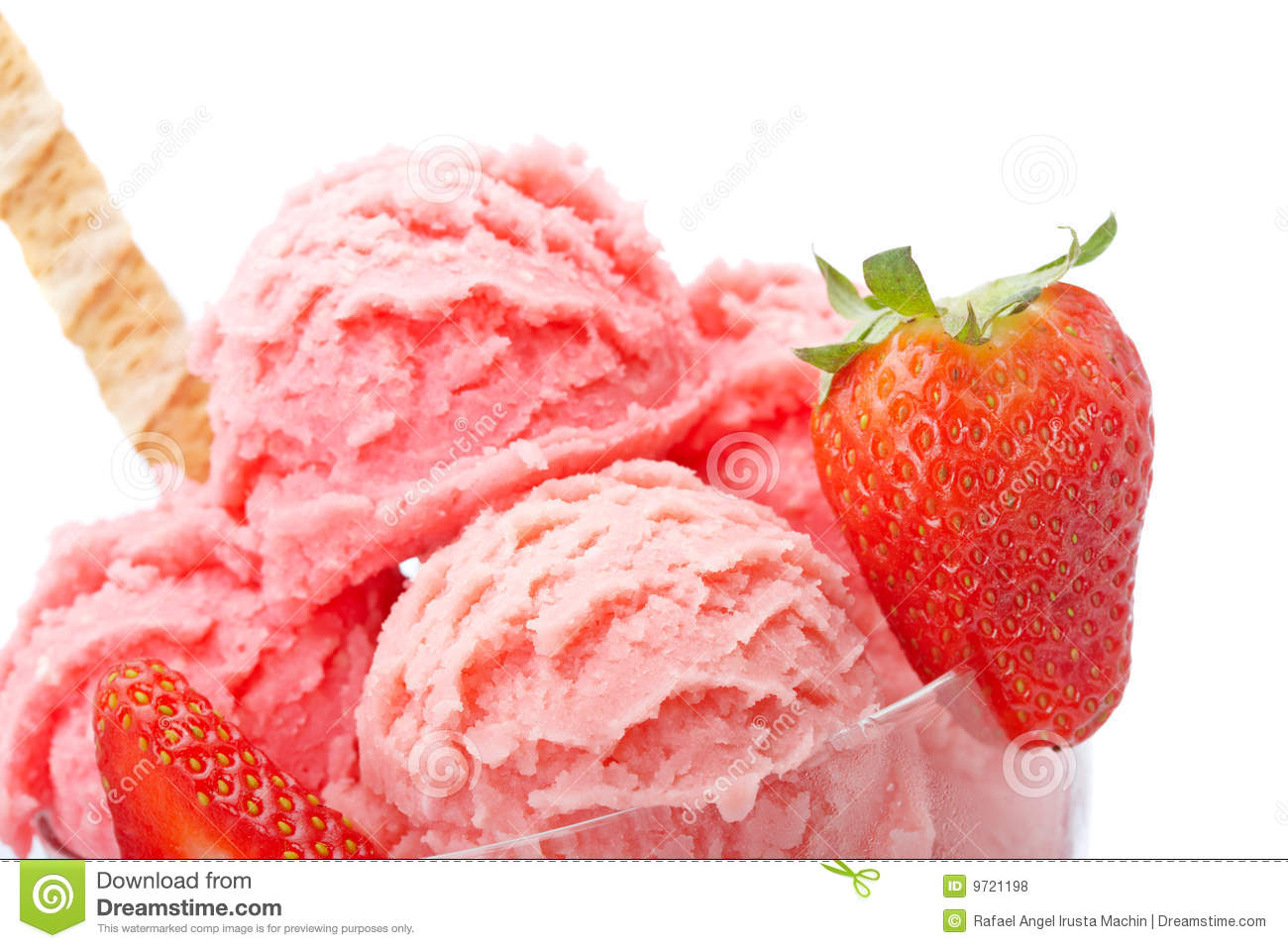 Strawberry Ice Cream Royalty Free Stock Photos - Image: 9721198