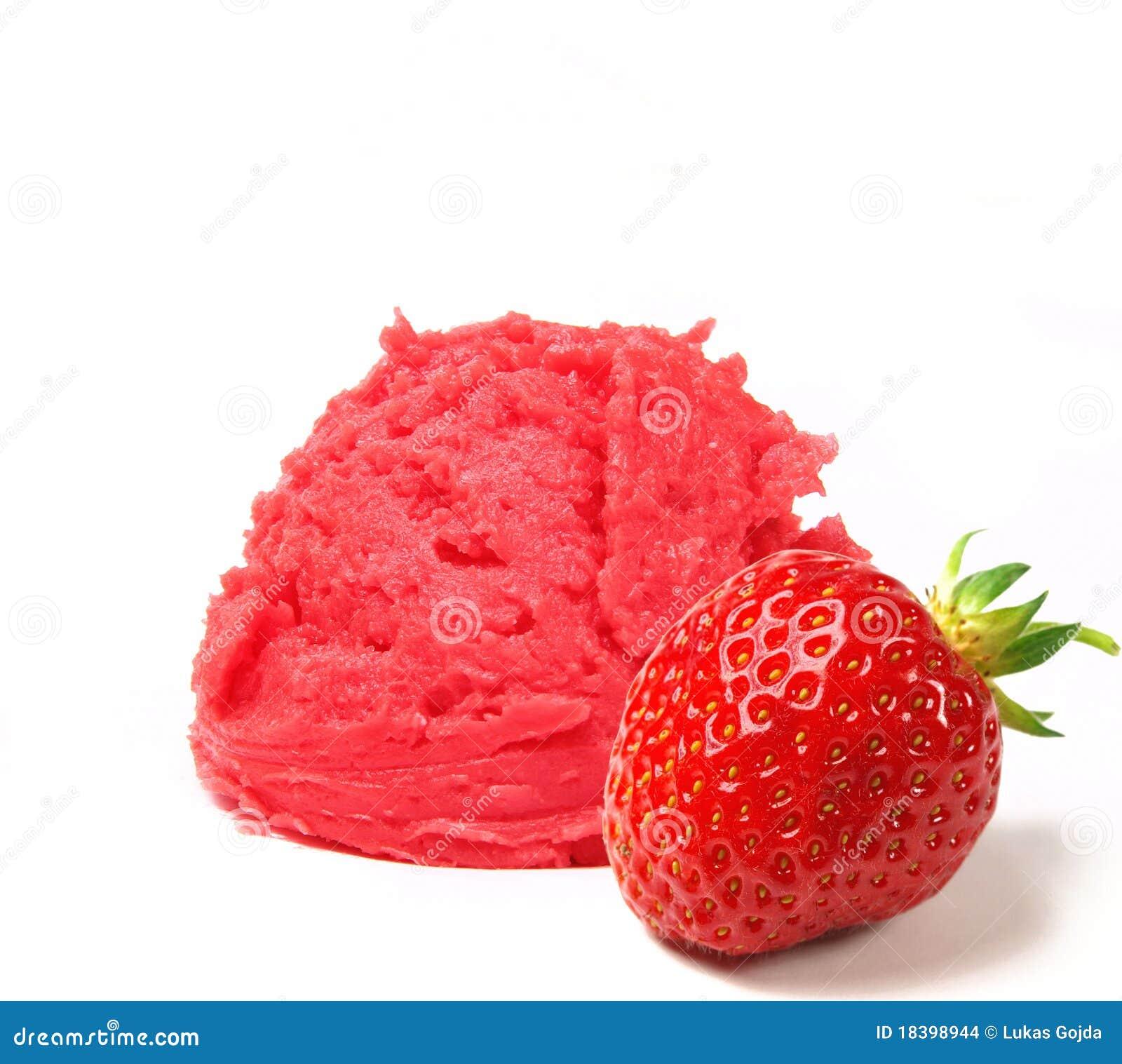 Strawberry Ice Cream Scoop Stock Images - Image: 18398944