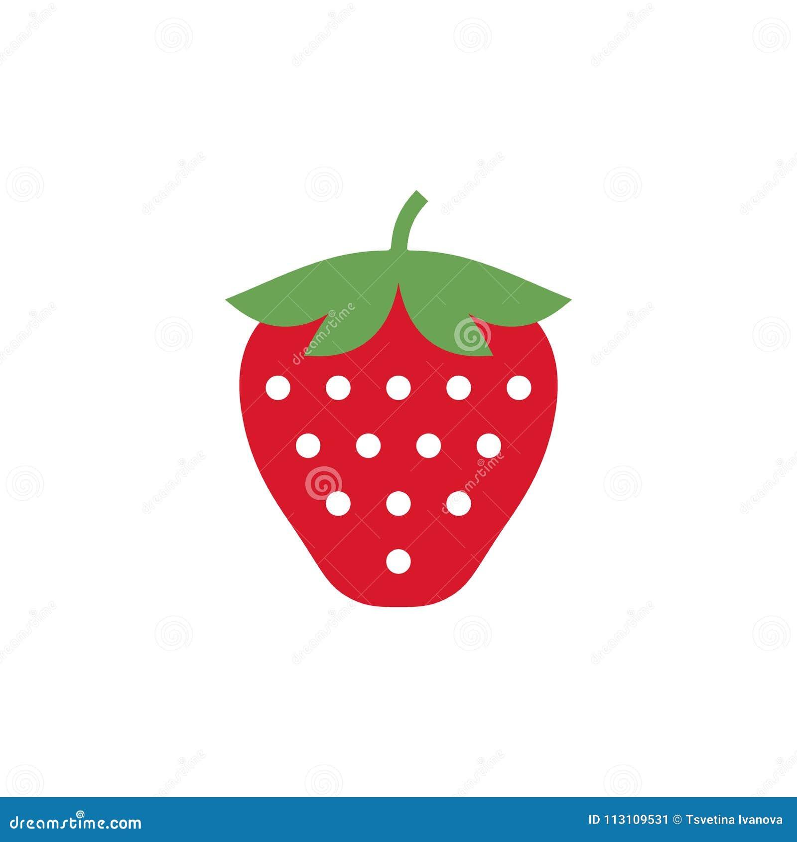 Strawberry Icon Simple Design Strawberry Icon Clip Art Stock Vector Illustration Of Icon Vector 113109531