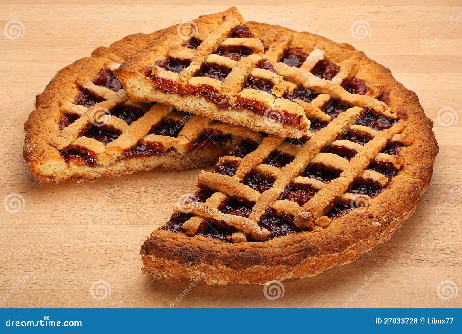 Strawberry Jam Tart Stock Photo Image Of Bake Aerial