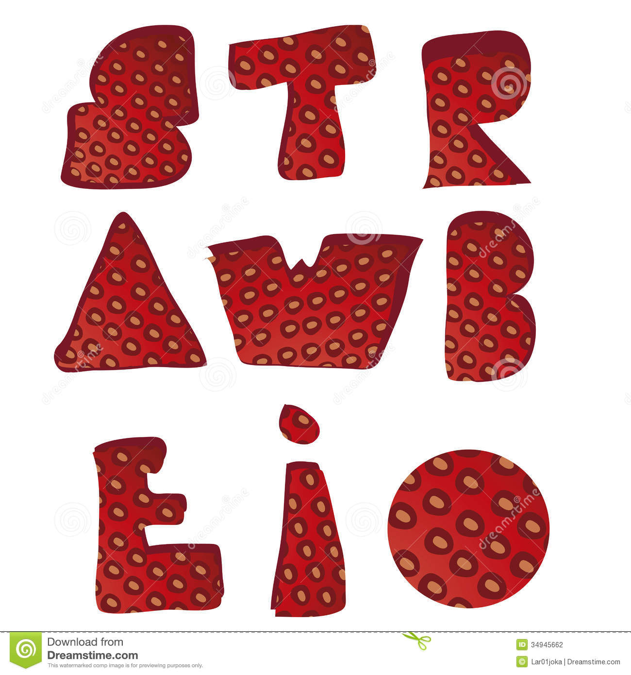 Strawberry Letters Stock Photography - Image: 34945662