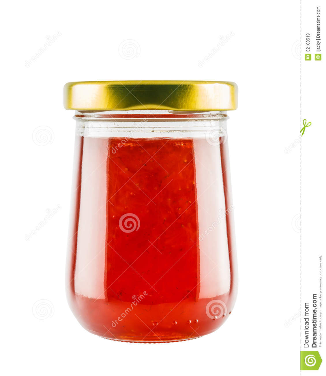 Strawberry marmalade jam in glass jar stock image image 32100519 Jam without boiling easy made flavorful