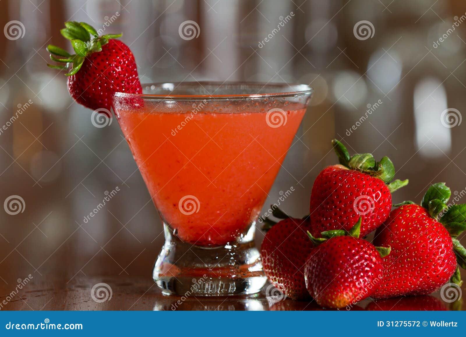 Strawberry Martini Stock Photography Image 31275572