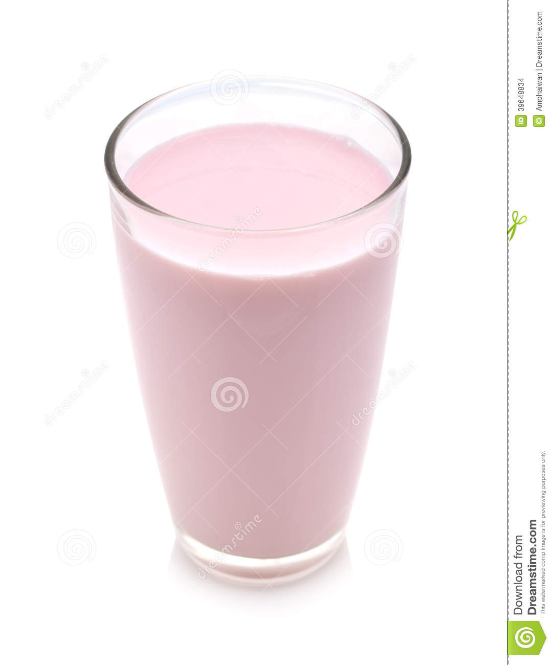 Strawberry Milk Stock Photo - Image: 39648834