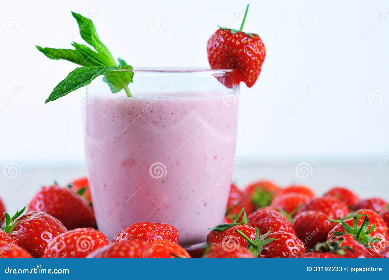 Milkshake On Orange Background Stock Image - Image: 10017701