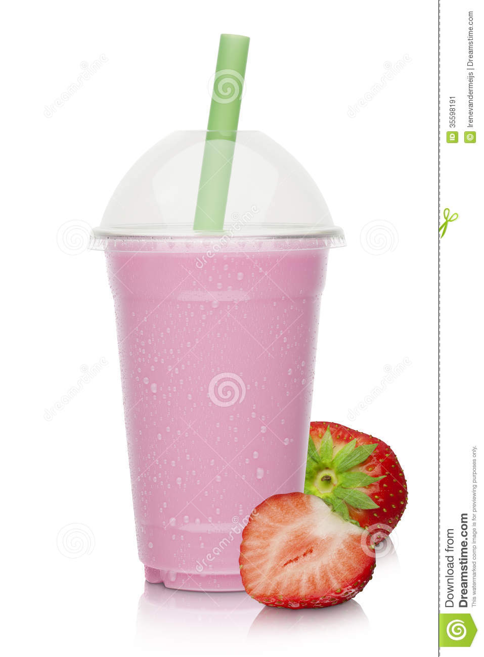 Stock Image Strawberry Milkshake Fresh Strawberries White Background Image35598191 on cartoon smoothie