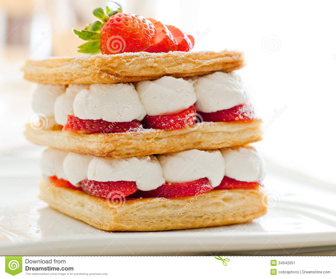 Strawberry Mille Feuille Stock Image - Image: 34942051