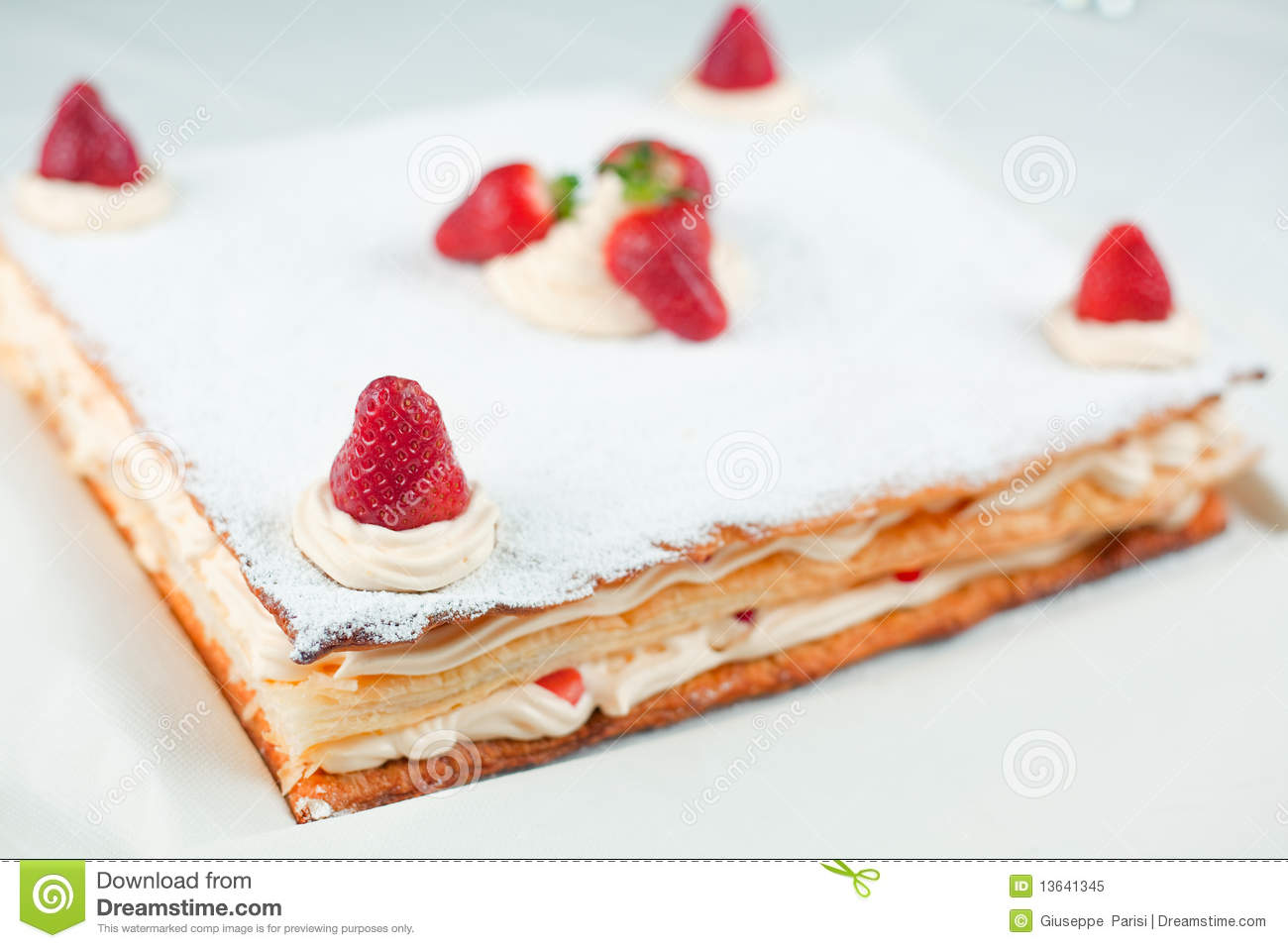 Strawberry Millefeuille Royalty Free Stock Photo - Image: 13641345