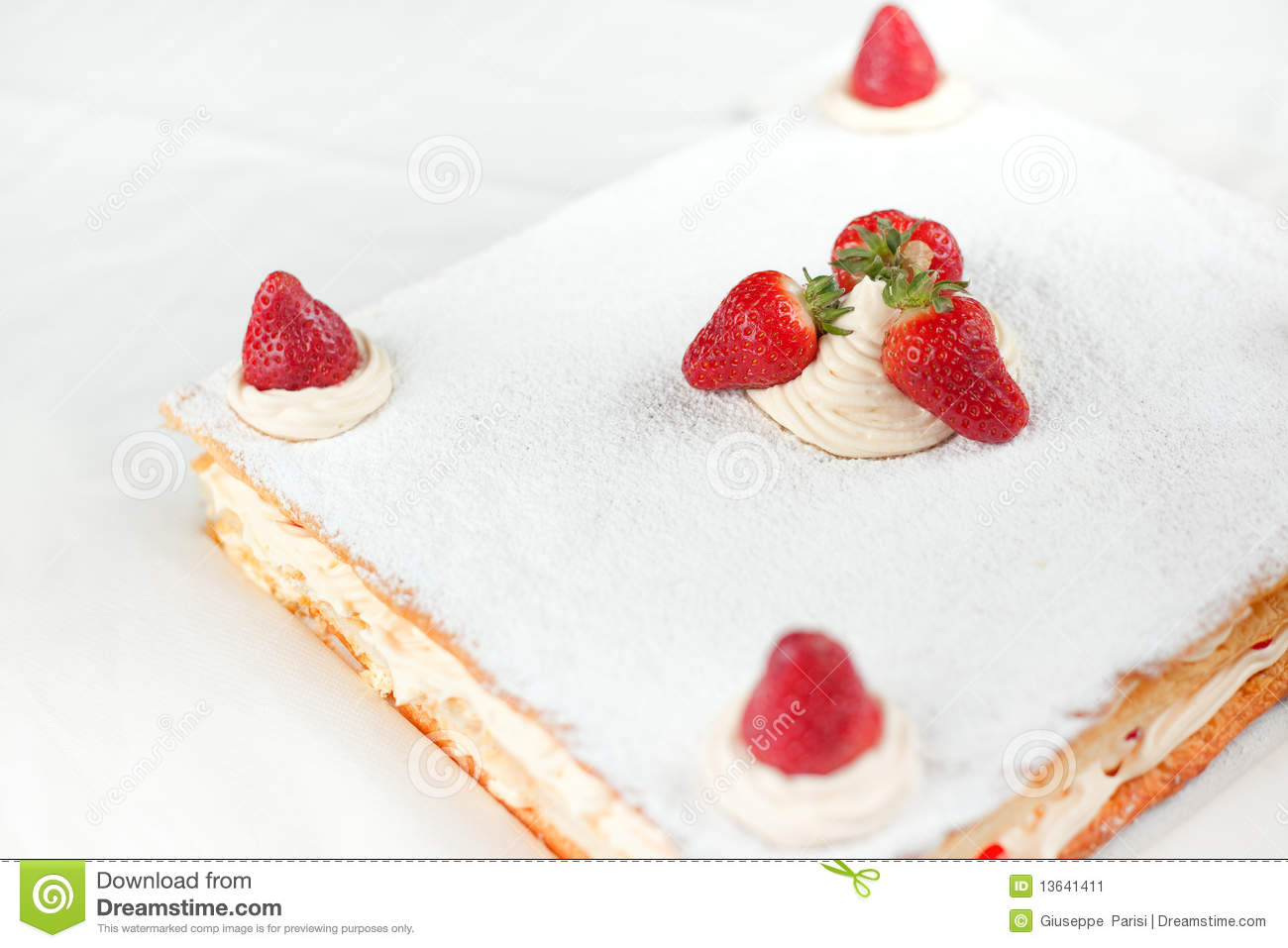 Strawberry Millefeuille Stock Image - Image: 13641411