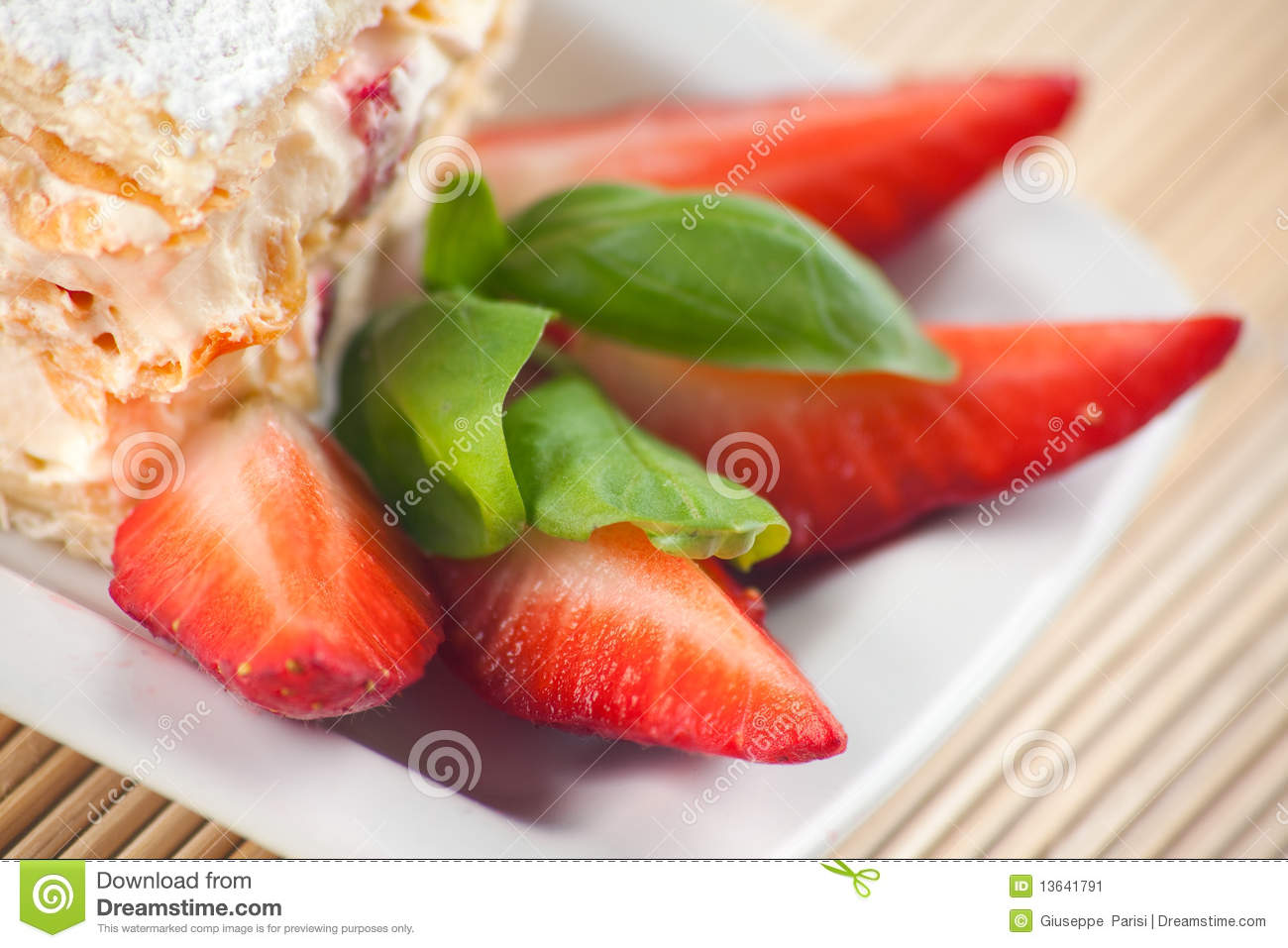 Strawberry Millefeuille Stock Image - Image: 13641791