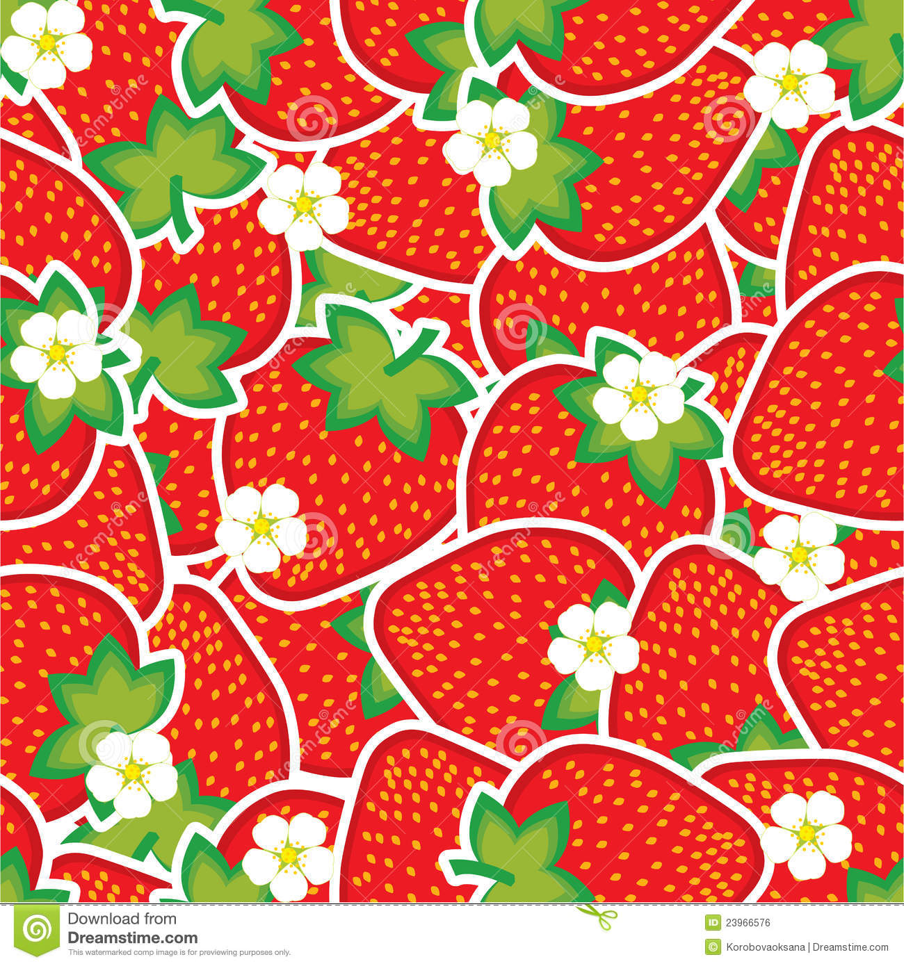 Strawberry Pattern Royalty Free Stock Image - Image: 23966576