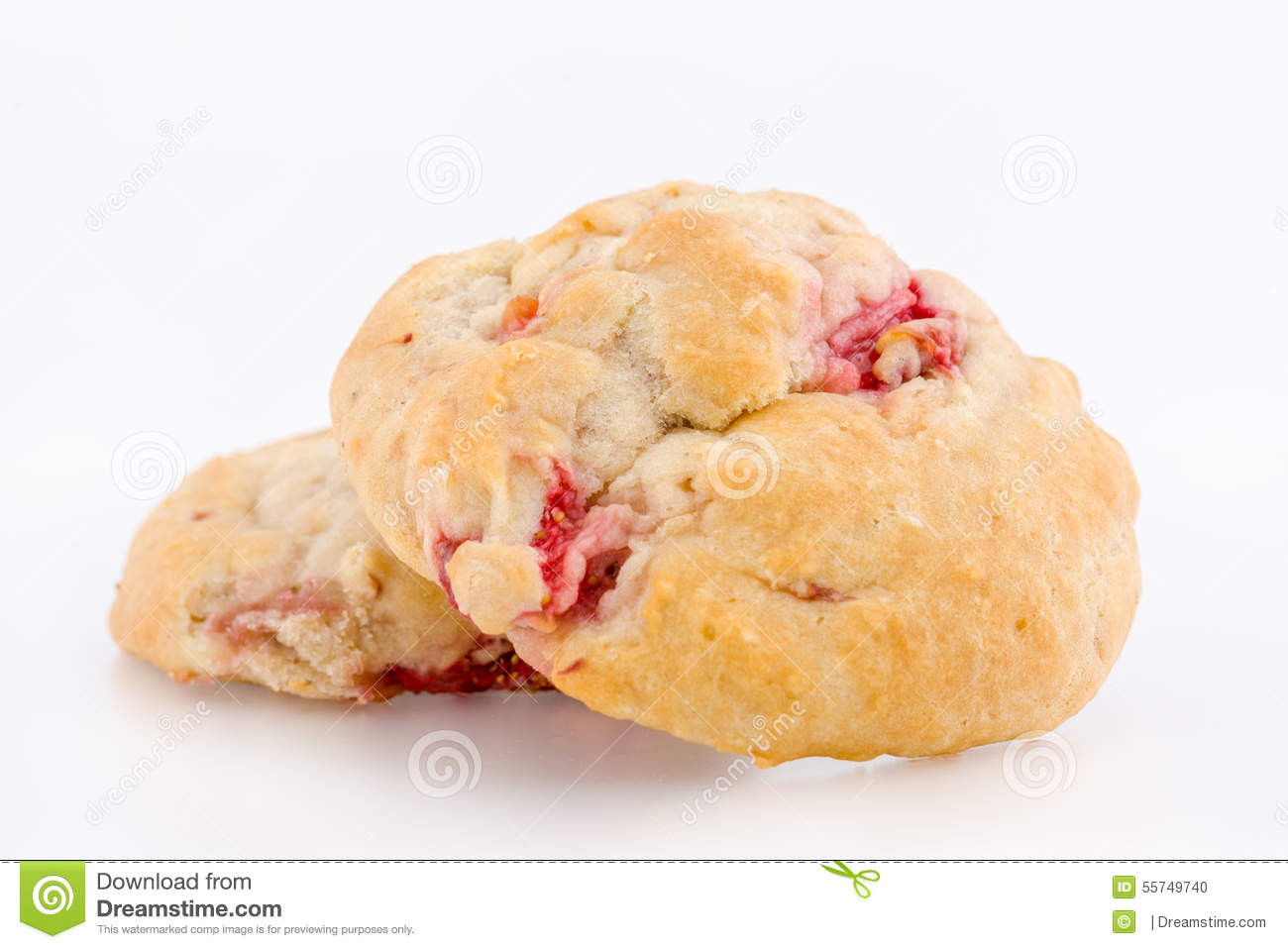 Fresh strawberry scone straight from the bakery.