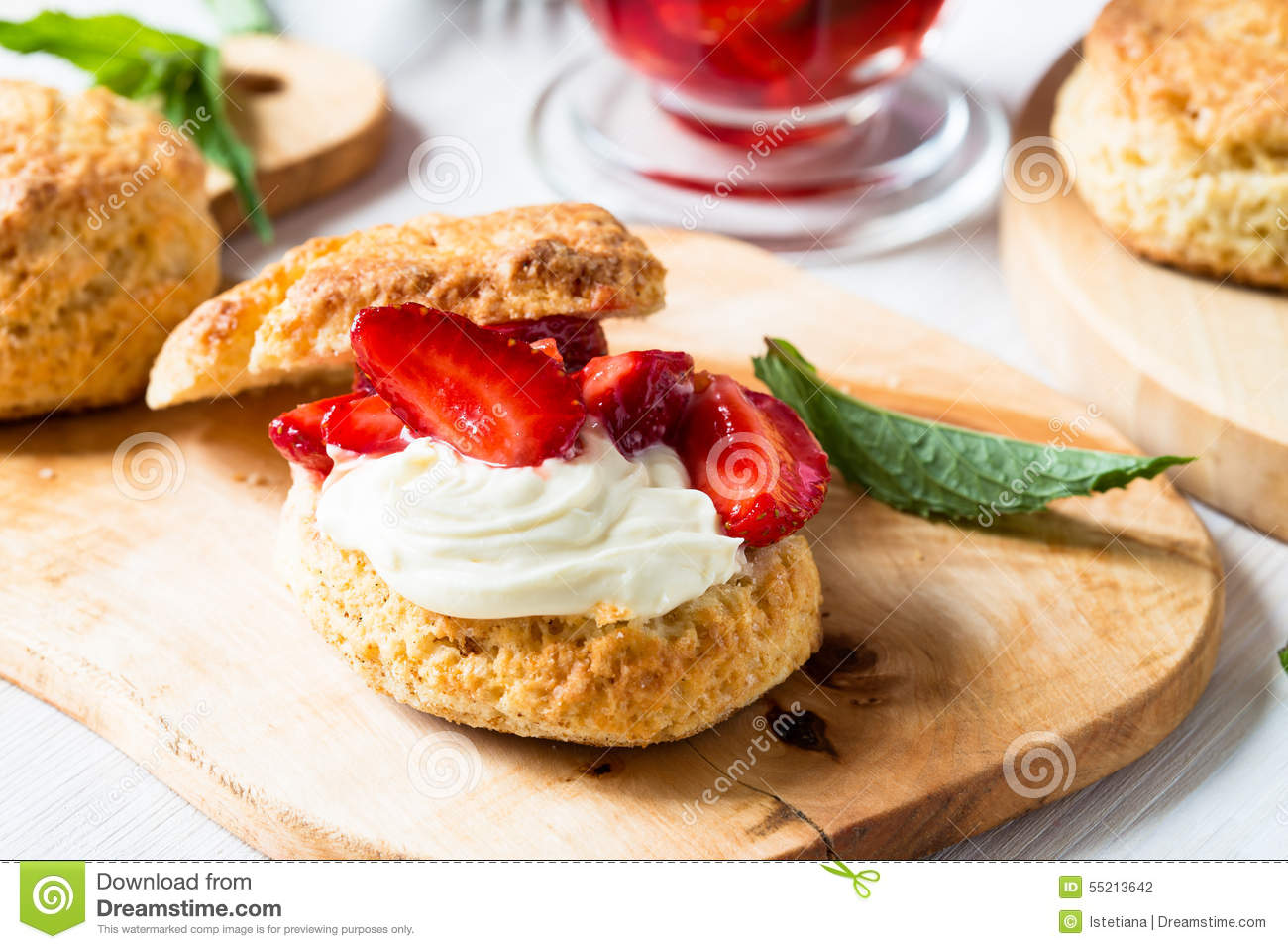 ... strawberry shortcake with vanilla whipped cream and berry compote