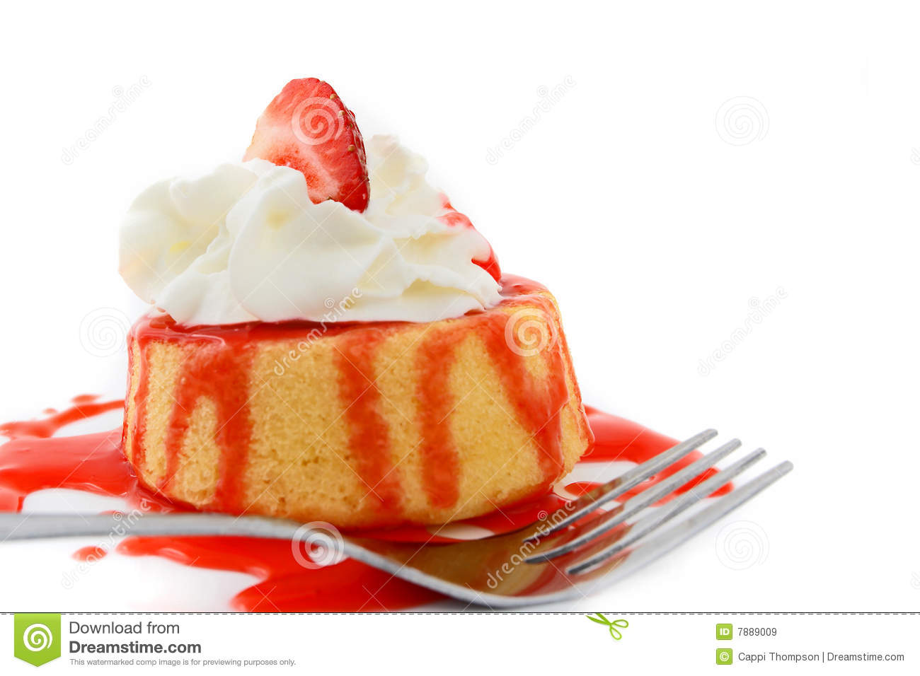 strawberry shortcake dessert royalty free stock images