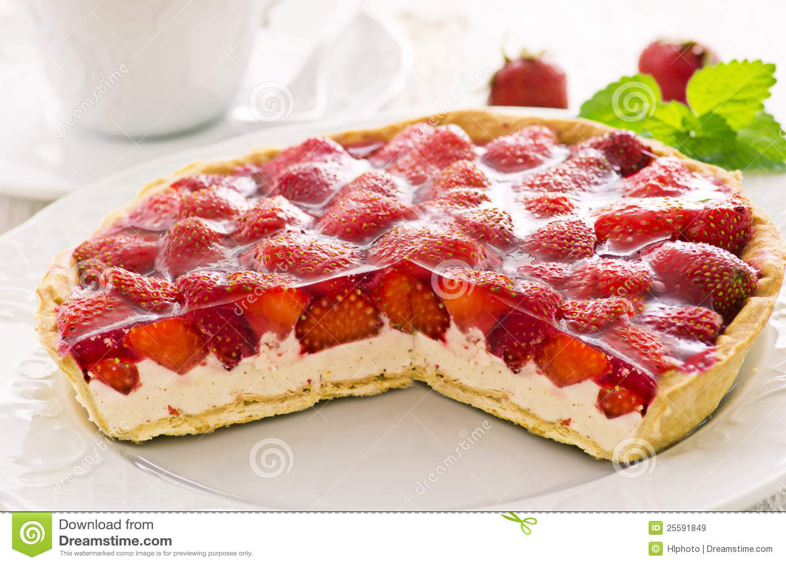 Strawberry Tart Royalty Free Stock Images - Image: 25591849
