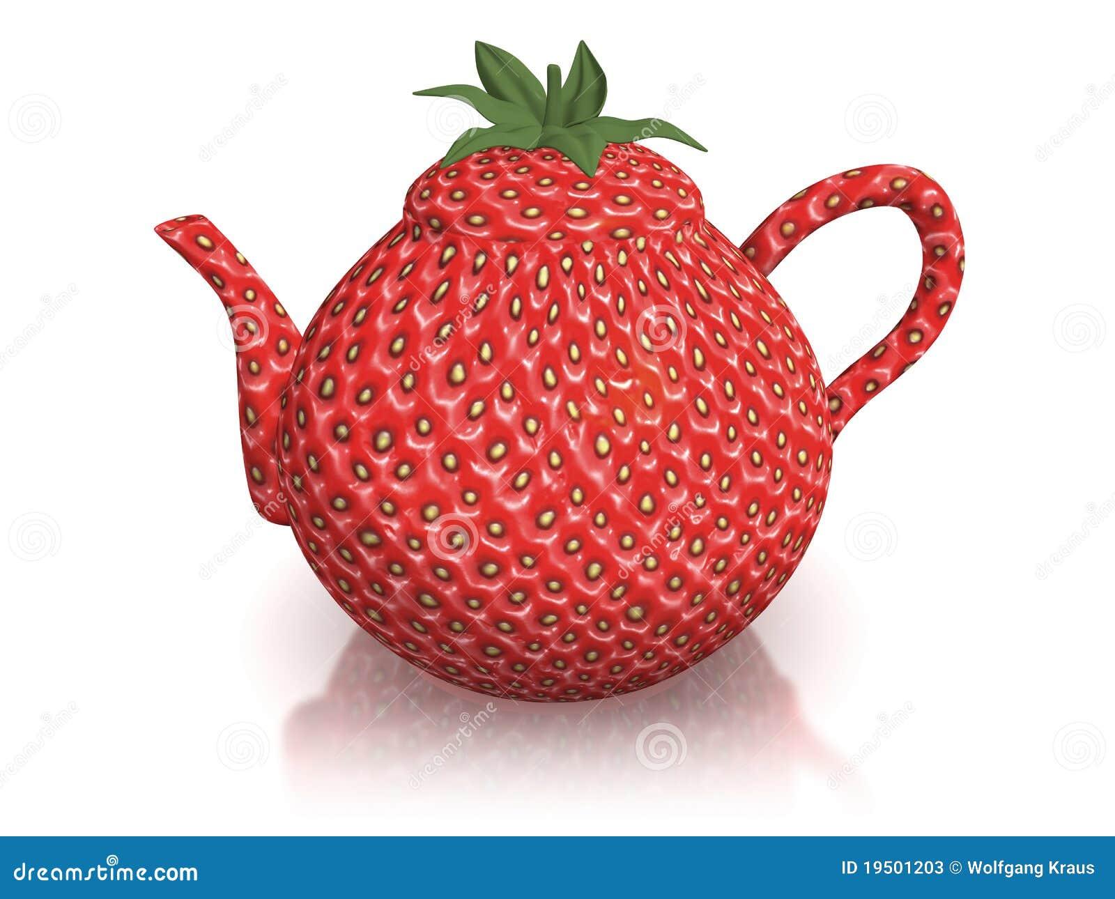 Strawberry Teapot Stock Photos Image 19501203