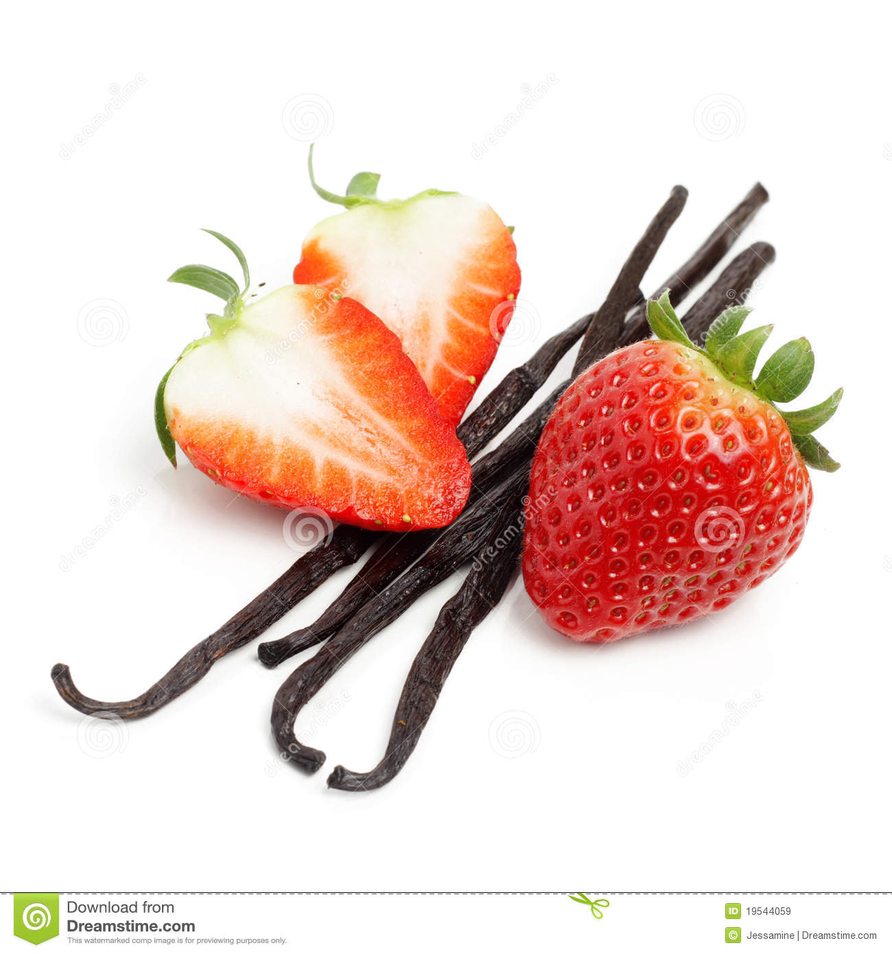 Strawberry And Vanilla Beans Royalty Free Stock Images - Image ...