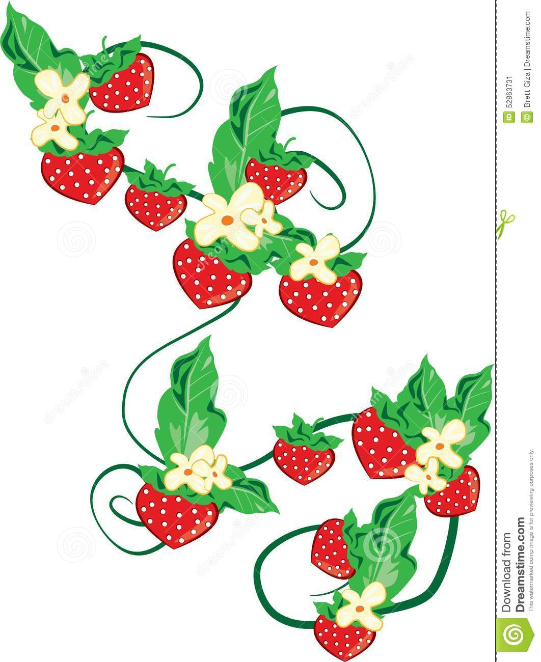 Strawberry Vine Clipart | www.imgkid.com - The Image Kid ...