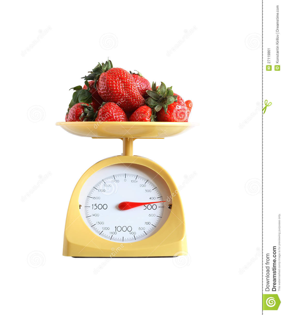Strawberry Weighing stock image. Image of dial, diet ...
